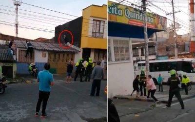 Video: Capturaron ladrón en techos de viviendas del San José, pero cuando fueron a denunciarlo ya estaba libre