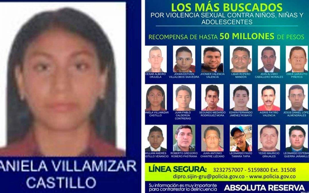 cartel de los violadores más buscados de Colombia
