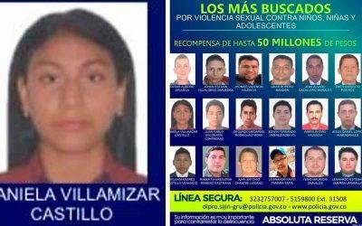 Una quindiana es la única mujer en cartel de los violadores más buscados de Colombia