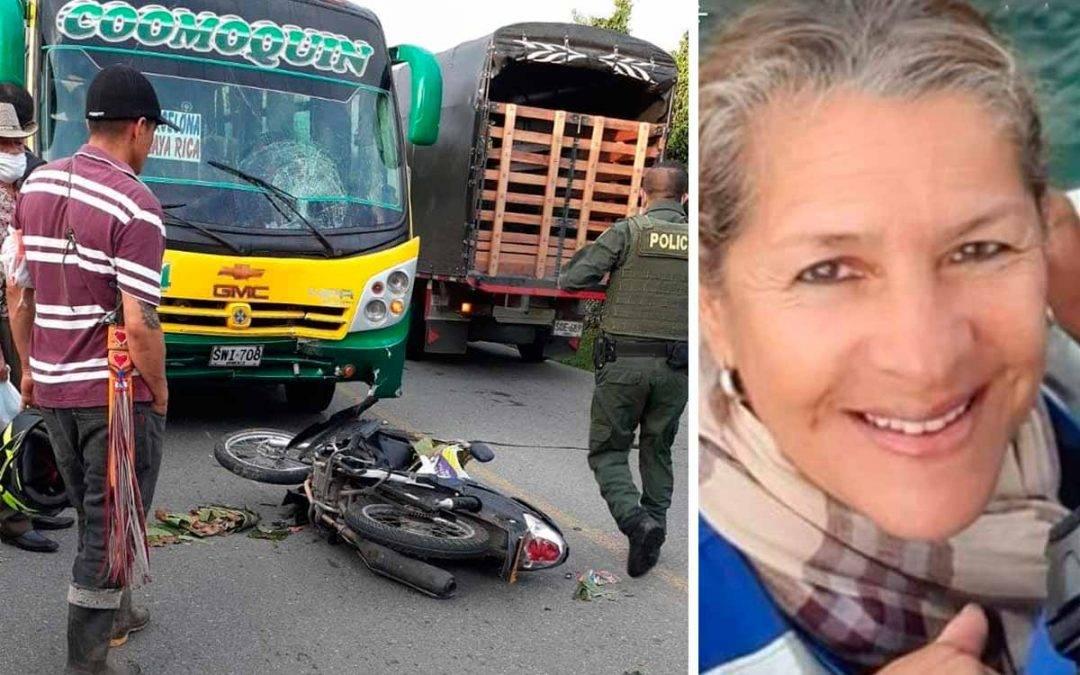 Doña Blanca Myriam la mujer que murió en accidente vía a Barcelona