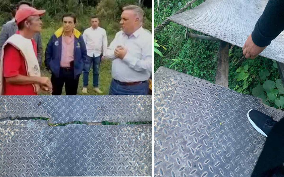 Mal estado de puente colgante en Chagualá