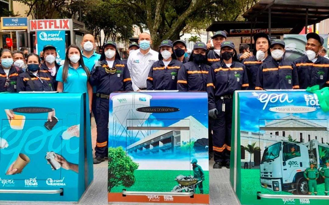 Inauguraron contenedores de basura subterráneos en Armenia