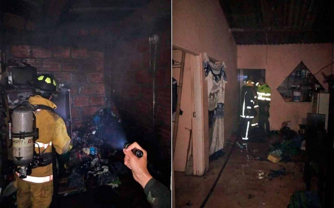 Incendio afectó vivienda en Los Robles de Montenegro