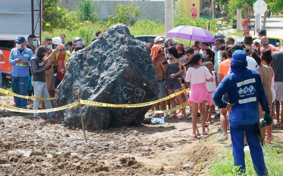 Estaban vendiendo pedazos del meteorito en Barranquilla como cura del Covid