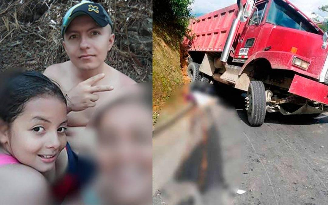 Una niña y su padre las víctimas de trágico accidente vía Pueblo Tapao - La Tebaida