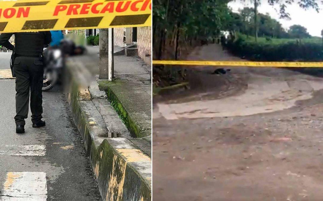 En Quimbaya un homicidio y un muerto en enfrentamiento con la policía