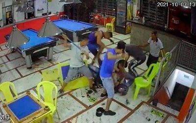 Video: mataron ladrón con la misma arma con que intentó robar un billar