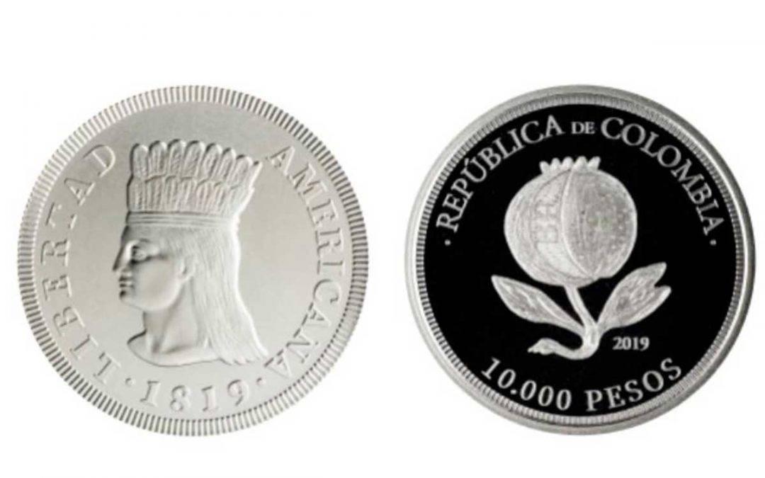 Moneda conmemorativa de 10 mil pesos.