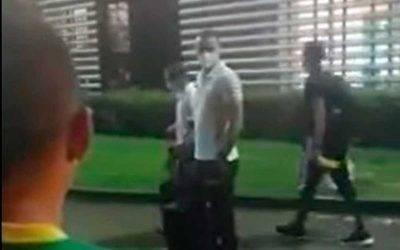 En video: «Pitalo vos»: Roldán retó a hinchas del Quindío que le reclamaron por su arbitraje